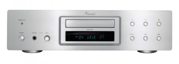 Vincent CD-S1.2 CD-Player Hybrid silber