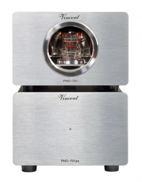 Vincent PHO-701 Phonovorverstärker MM/MC silber - Retoure