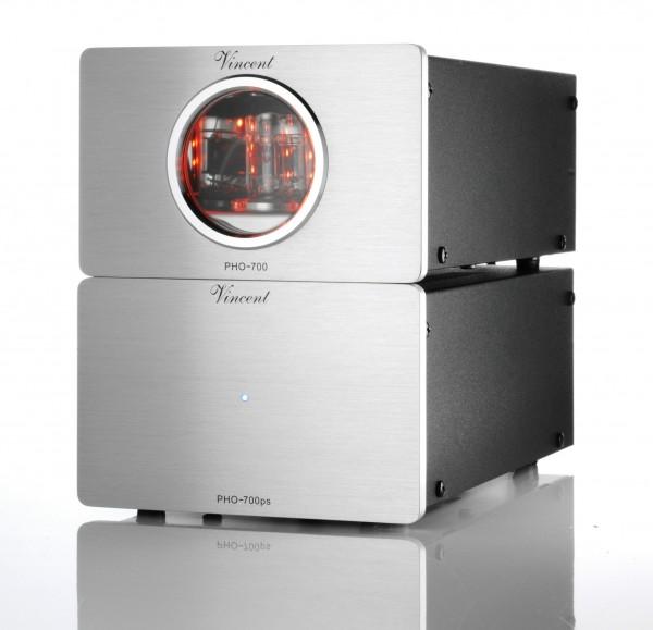 Vincent PHO-700 Phonovorverstärker MM/MC silber