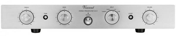 Vincent SA-31 Vorverstärker Stereo Hybrid silber - Auslaufartikel