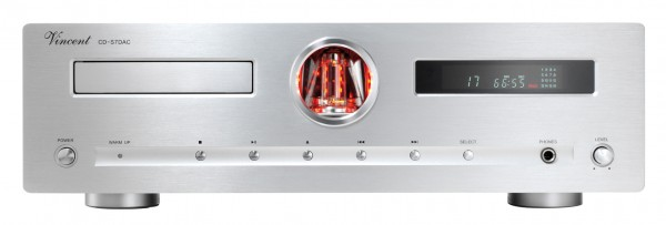 Vincent CD-S7 DAC CD-Player Hybrid silber
