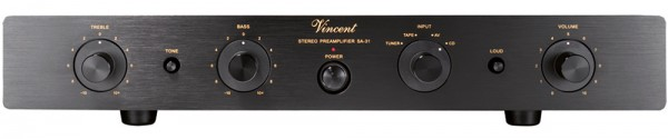 Vincent SA-31 Vorverstärker Stereo Hybrid schwarz