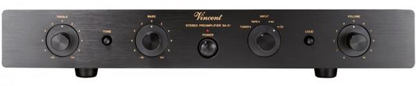 Vincent SA-31 Vorverstärker Stereo Hybrid schwarz - Auslaufartikel