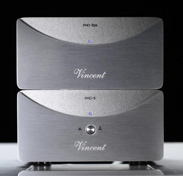 Vincent PHO-8 Phonovorverstärker MM/MC silber