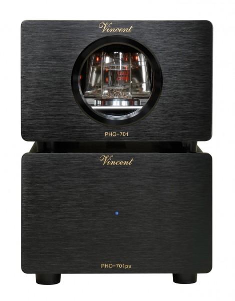 Vincent PHO-701 Phonovorverstärker MM/MC schwarz