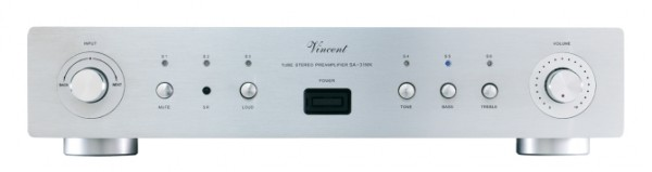 Vincent SA-31 MK Vorverstärker Stereo Hybrid silber