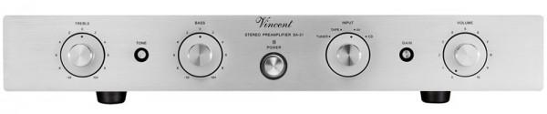 Vincent SA-31 Vorverstärker Stereo Hybrid silber