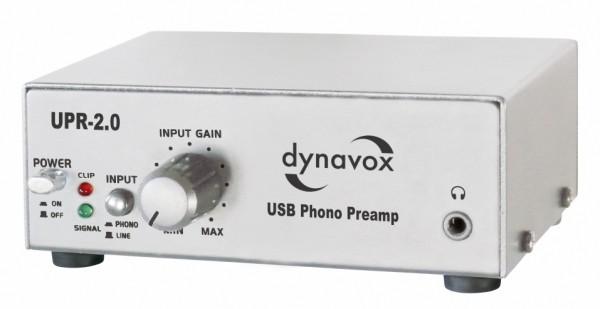 Dynavox UPR-2.0 Phono-Vorverstärker mit USB silber