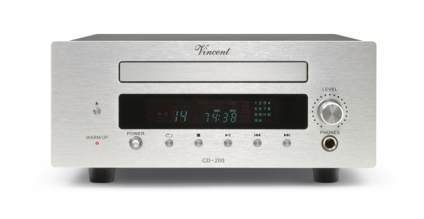 Vincent CD-200 CD-Player Hybrid silber