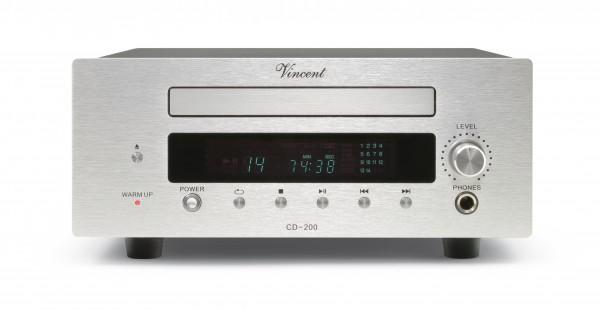 Vincent CD-200 CD-Player Hybrid silber